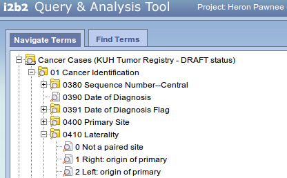 NAACR terms for tumor registry